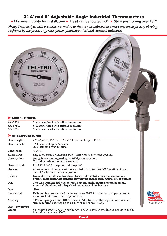 Thermometer adjust